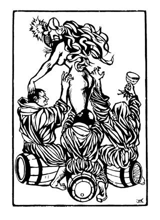 Přípitek (Mniši na sudech) – Villon